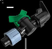 Старт-Коннектор лента/ плоский шланг с миникраном Bradas