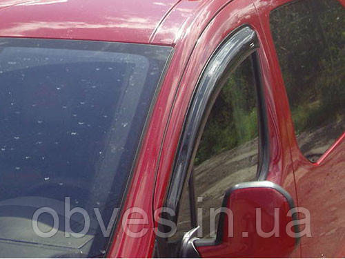 """Дефлектори дверей (вітровики) Fiat Doblo Cargo 5d/Doblo Panorama 5d 2009 деф.вікон """"CT"""""""