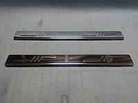 Накладки на пороги (2 шт, нерж., Omsa) - Citroen Jumpy (2007+)