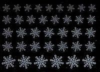 """""""Снежинка"""" на силиконовой основе белая"""