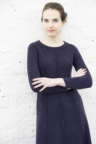 Платье из ангоры синего цвета