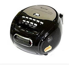 Бумбокс колонка караоке часы MP3 Golon RX 686Q Black, фото 3