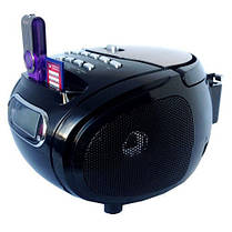 Бумбокс колонка караоке часы MP3 Golon RX 686Q Black, фото 2