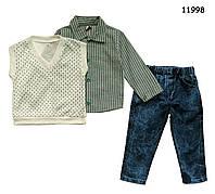 Костюм-тройка для мальчика 1, 3 года (80, 98 см)