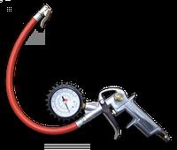 Пистолет для подкачки шин с манометром Bradas