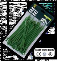 Стяжки кабельные пластиковые многоразовые GREEN 4,8*200 мм Bradas