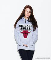 Толстовка с принтом «Чикаго Буллз» Chicago Bulls | Кенгурушка