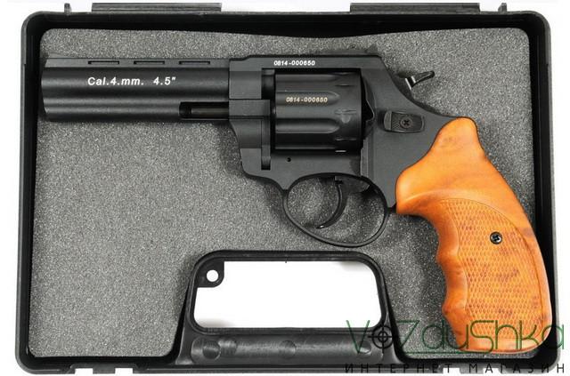 револьвер флобера stalker 4.5 wood в кейсе