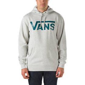 Худи мужская с принтом Vans logo Толстовка серая