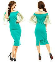 Платье с красивым рукавом, размер S M L код 541М