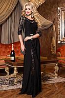 Шикарное Вечернее Платье в Пол Черное  р. 44 по 50