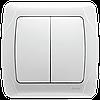 Выключатель 2-х клавишный VIKO Carmen Белый (90561002)