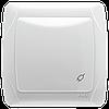 Розетка VIKO Carmen (с заземлением), крышкой и защитными шторками Белая (90561012)