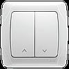 Выключатель управления жалюзи 2-х клавишный VIKO Carmen Белый (90561016)