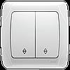 Переключатель проходной 2-х клавишный VIKO Carmen Белый (90561017)