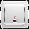 Переключатель проходной с подсветкой VIKO Carmen Белый (90561063)
