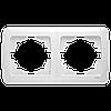 Двойная горизонтальная рамка VIKO Carmen Белый (90571102)