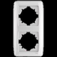 Двойная вертикальная рамка VIKO Carmen Белый (90571002)