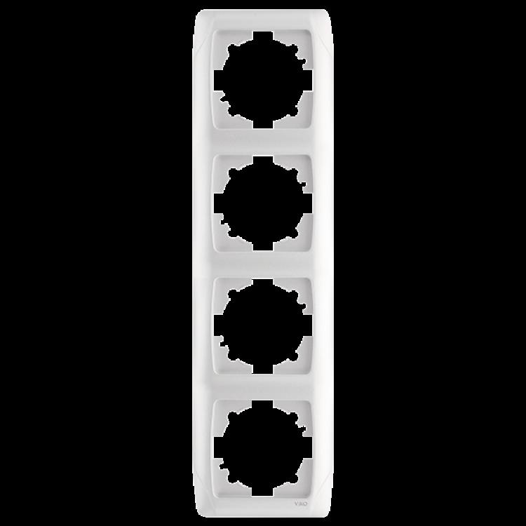 Четверная вертикальная рамка VIKO Carmen Белый (90571004)