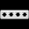 Четверная горизонтальная рамка VIKO Carmen Белый (90571104)