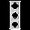 Тройная вертикальная рамка VIKO Carmen Белый (90571003)