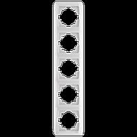 Пятерная вертикальная рамка VIKO Carmen Белый (90571005)