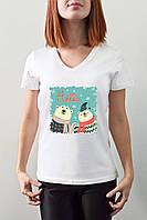 """Женская футболка """"Белые медведи"""""""