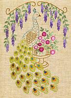 Наборы для вышивки нитками (декоративные швы) Китайский павлин НКШ-4009