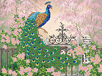 Ткань с рисунком для вышивания бисером Царственная птица РКП-594