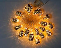 Гирлянда Цилиндр Золото LED 20