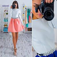 Красивое двухцветное платье, расцветки