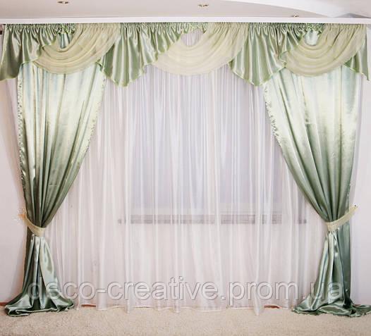 Комплект шторы + ламбрекен №18 3м