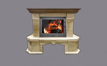 Портал для камина (облицовка) угловой Барбара из натурального мрамора Daino Reale, фото 2