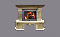 Портал для камина (облицовка) Барбара призматичная из натурального мрамора Diano Reale