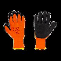 Перчатки рабочие черно-оранжевые зимние KRAFT & DELE KD600