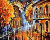 Картина по номерам 40×50 см. Осенний дождь Художник Леонид Афремов