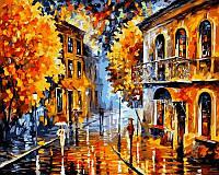 Картина по номерам 40×50 см. Осенний дождь Художник Леонид Афремов, фото 1