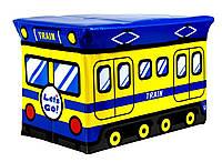 Ящик - пуфик для игрушек Веселый автобус Bus