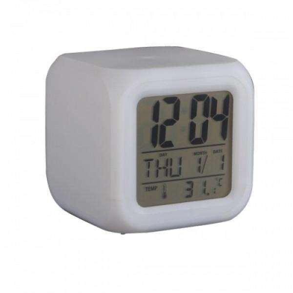 Электронные настольные часы с термометром
