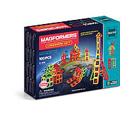 Магнитный конструктор Известные строения мира, 100 элементов