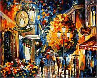 Картина по номерам 40×50 см. Кафе в старом городе Художник Леонид Афремов