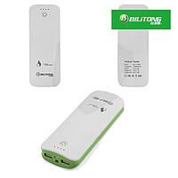 Внешний аккумулятор Bilitong Y053 Power Bank 15600 mAh, с фонариком (зеленый)