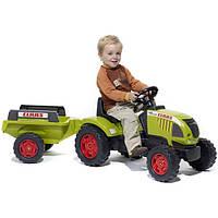 Трактор на педалях с прицепом Falk CLAAS ARES 657 зеленый