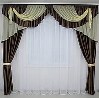 Комплект шторы + ламбрекен №37 3м