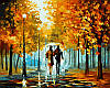 Картина по номерам 40×50 см. Пара с собачкой Художник Леонид Афремов