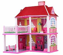 Кукольный домик 6980 с мебелью, 2 этажа и 5 комнат