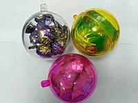 Новогодний прозрачный разъемный шар для конфет, фото 1