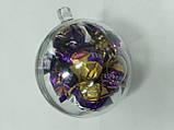 Новогодний прозрачный шар для конфет, фото 2