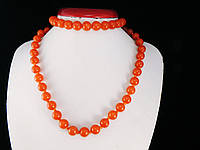 Набор тонированного агата, шар 10мм, оранжевый