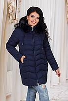ДР7088 Куртка зимняя на холлофайбере батал , фото 3